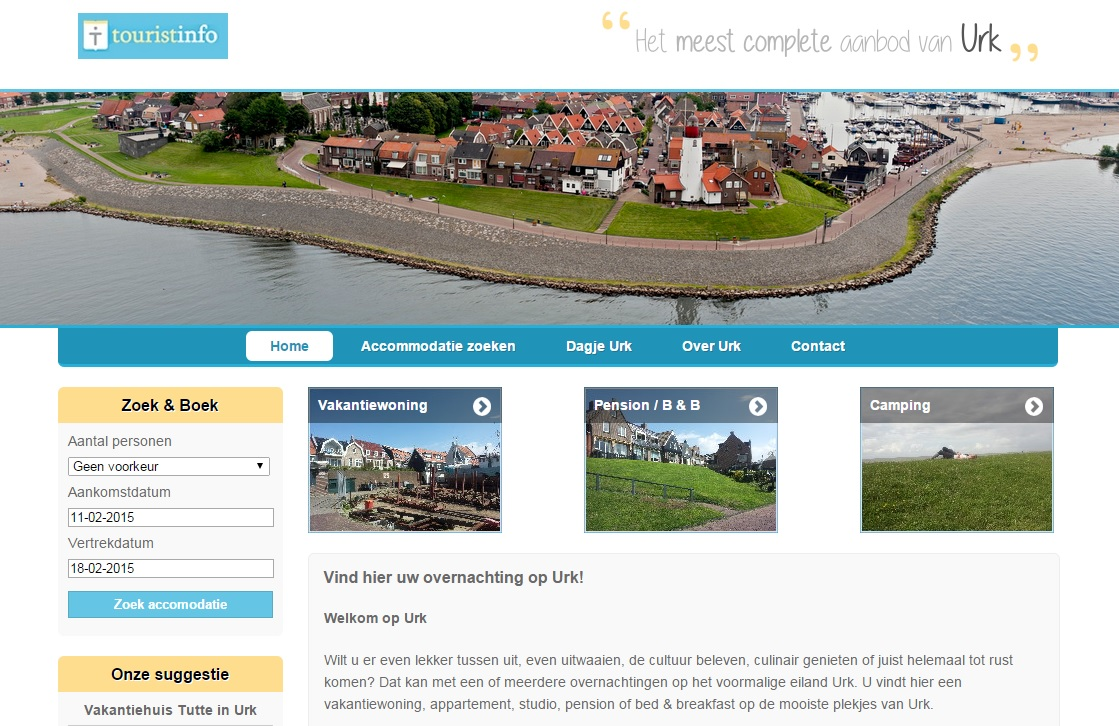 Alle accommodaties in Urk (Namens Touristinfo Urk)