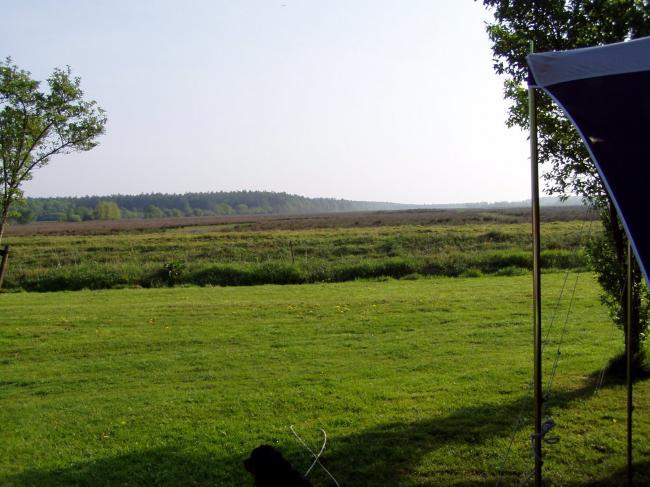 uitzicht vanaf de camping