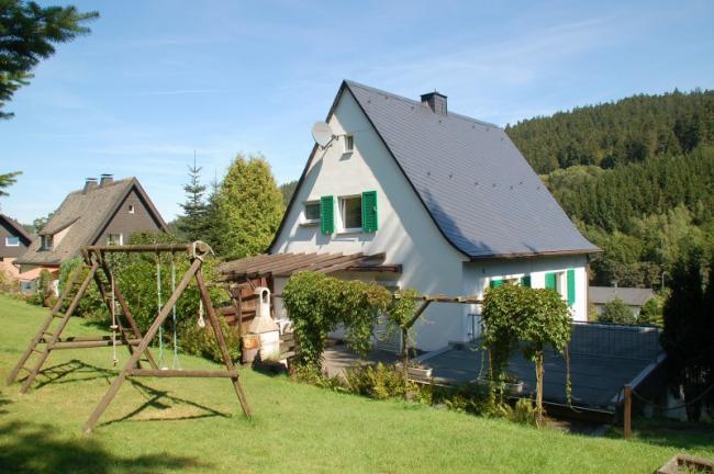 Achterkant huis en tuin