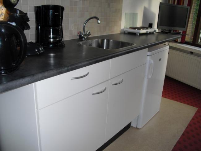 KeukenRolstoeltoegankelijke vakantiehuis in Drenthe 2 personen Westerbork