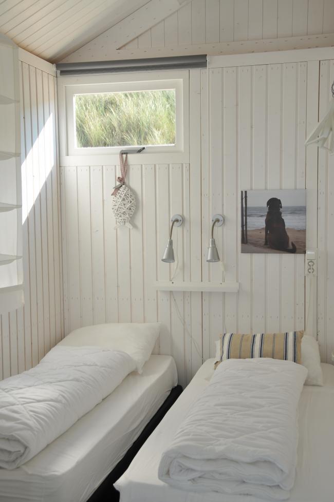 Slaapkamer strandhuisje