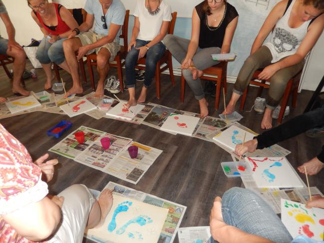 activiteit voetschilderen