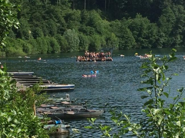 Pulver Maare, zwemmen, kano varen.