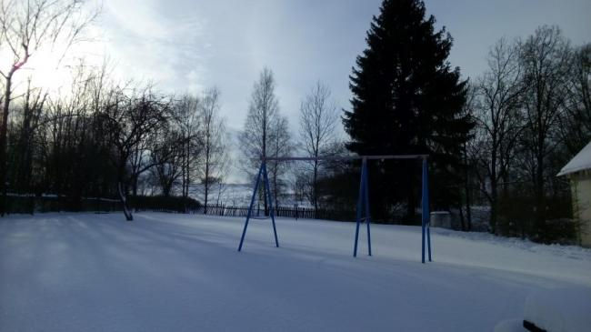 Tuin in de sneeuw