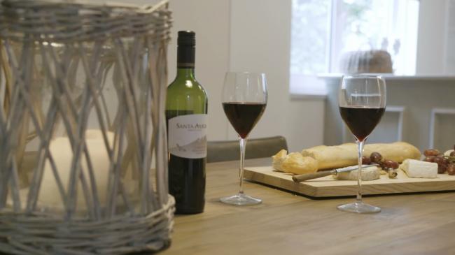 Ontspannen met een wijntje