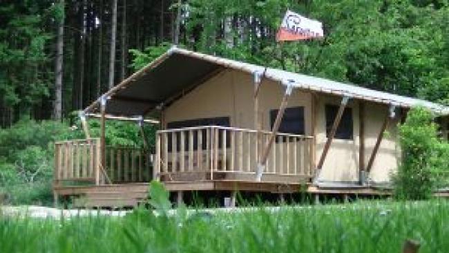 Safari-Zelt mit dem Thema gorilla