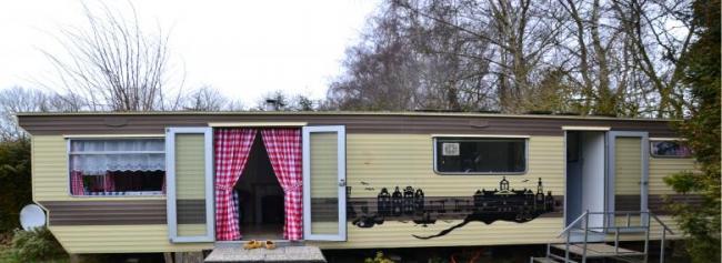Oud Hollandse stacaravan 4 personen