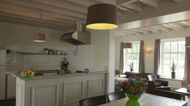 Keuken in De Hoeve Landgoed de Biestheuvel