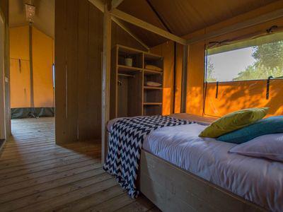 Recreatiepark De Boshoek Luxe Safaritent 6 personen Voorthuizen Veluwe Gelderland
