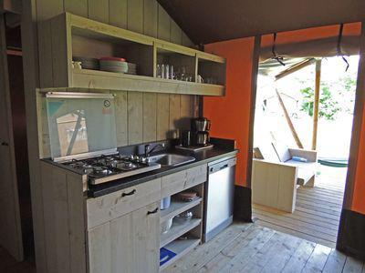 Recreatiepark De Boshoek Safarihouse 8 personen Voorthuizen Veluwe Gelderland