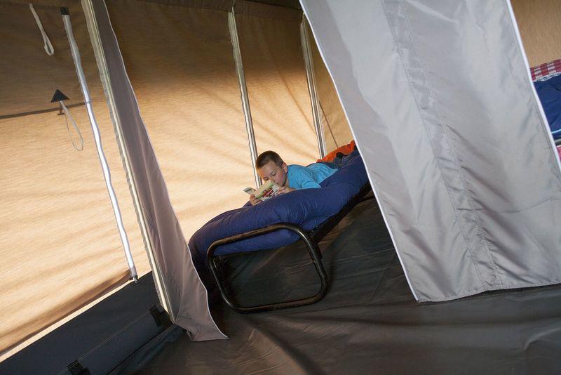 binnentent - camping De Boshoek 5- persoons lodgetent