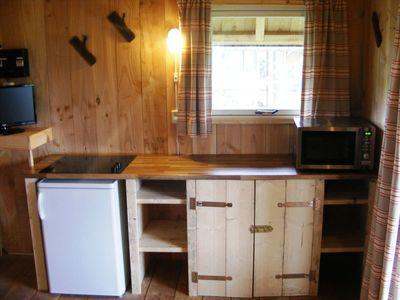 keuken -  camping De Boshoek 6-persoons trekkershut
