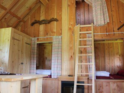 slaapkamers -  camping De Boshoek 6-persoons trekkershut