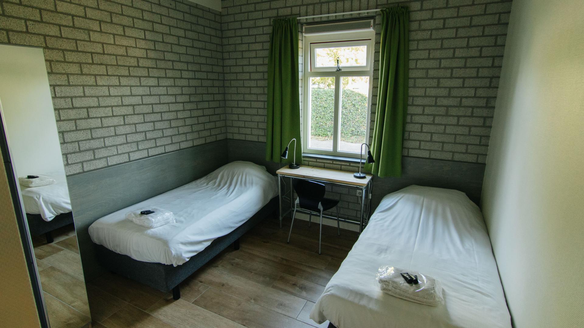 2-persoons slaapkamer in nieuwe slaapvleugel Schop Landgoed de Biestheuvel