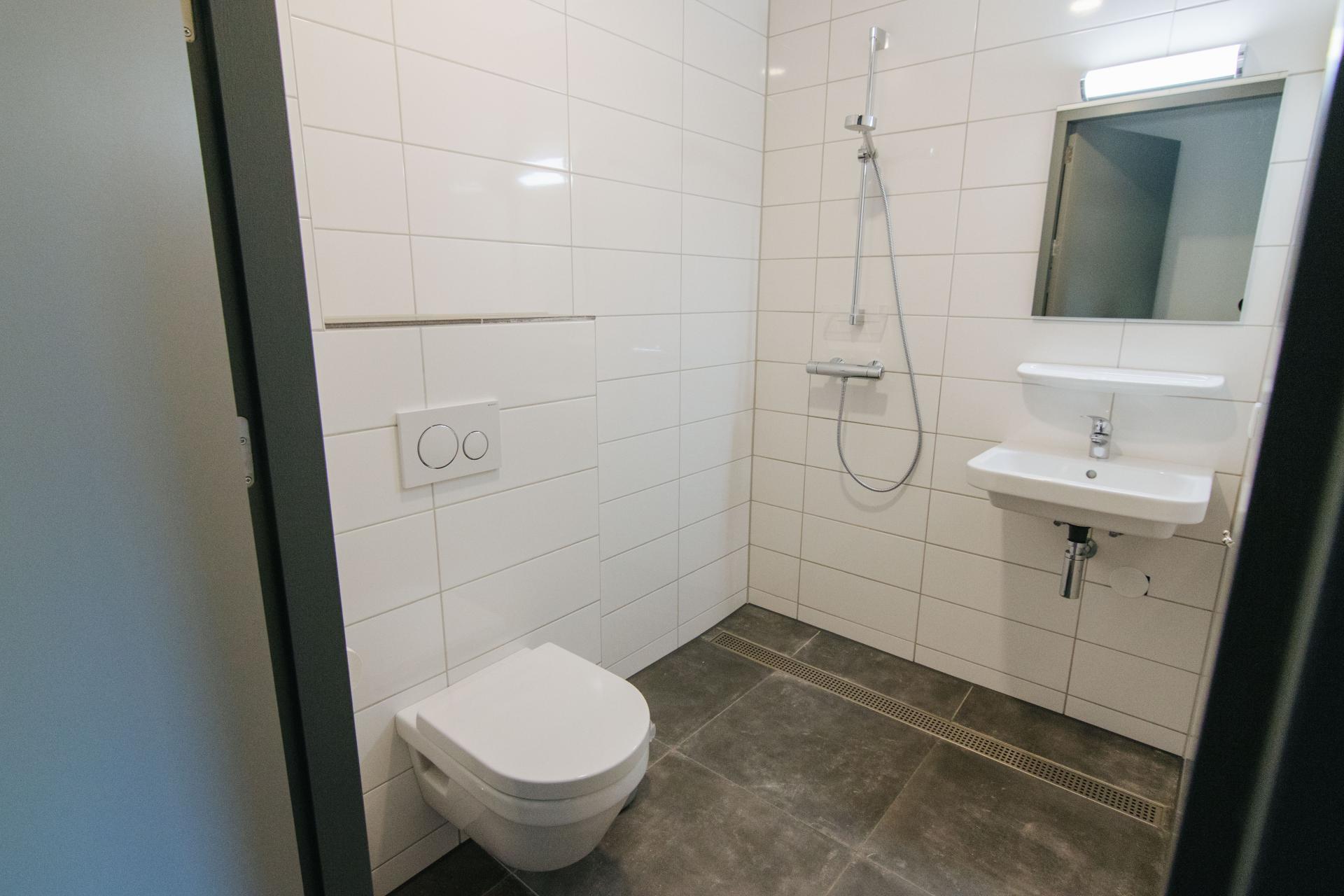 Badkamer in nieuwe slaapvleugel Schop Landgoed de Biestheuvel