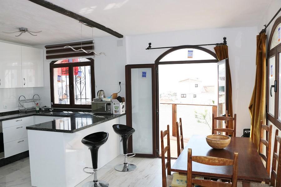 keuken met deur