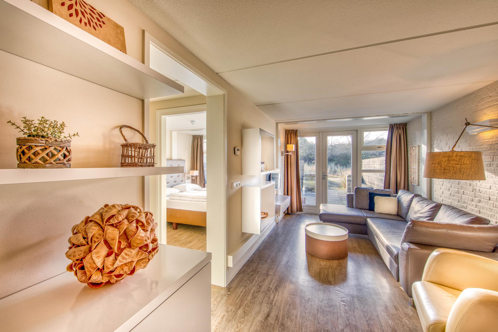 Strand Resort Schier Appartement 12 woonkamer en slaapkamer