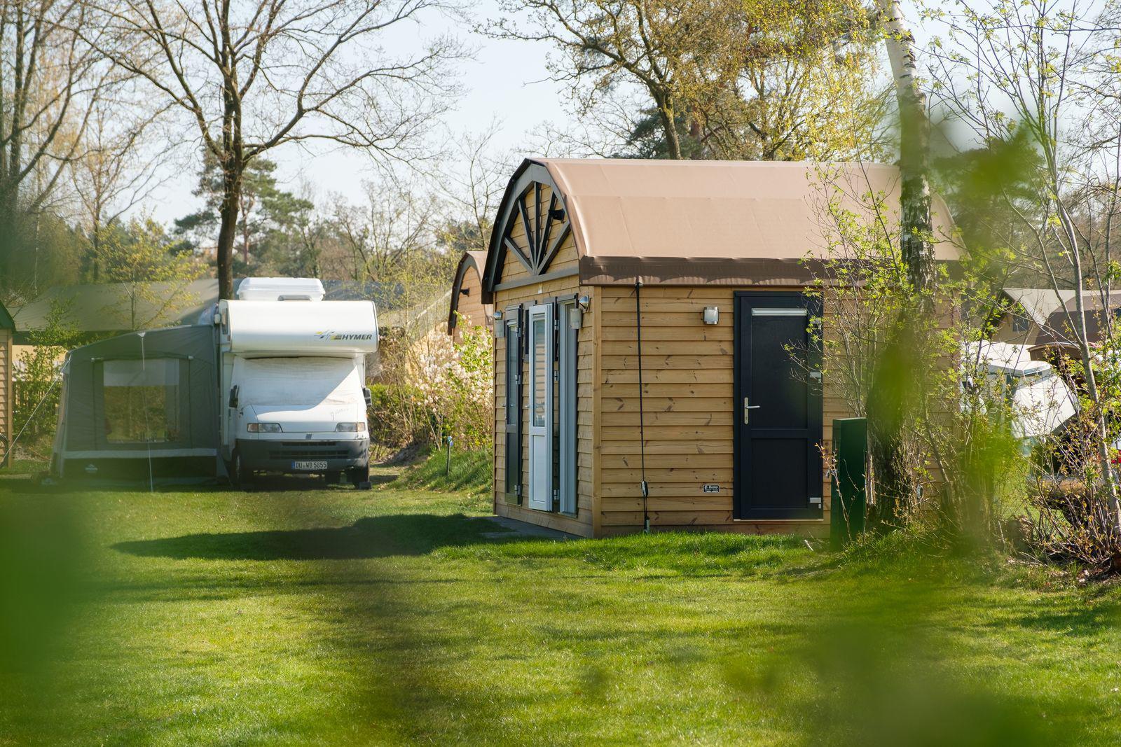 De Zandstuve Kampeerplaats met privé sanitair