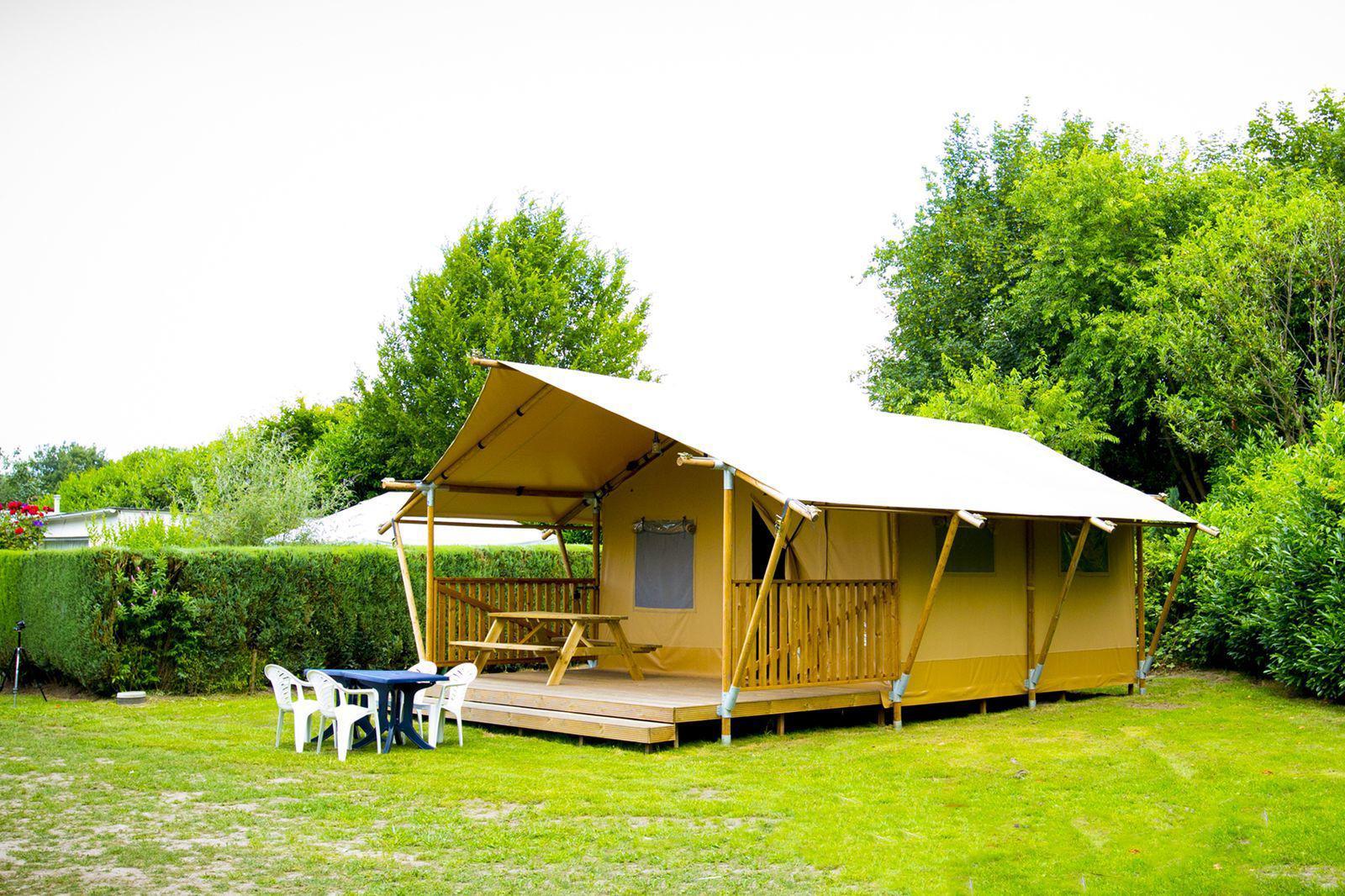 Bungalowtent Deluxe voor 5-personen in Noord-Brabant | Recreatiepark Duinhoeve